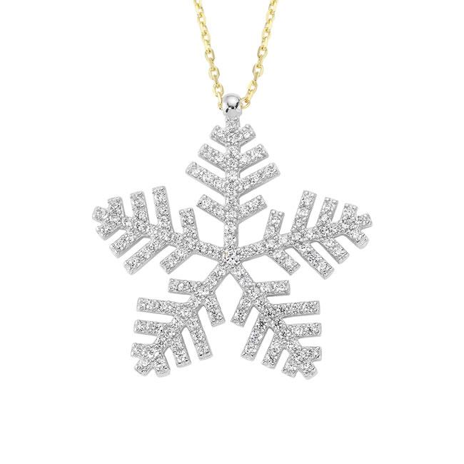 Bildiğiniz gibi kar taneleri her biri birbirinden farklıdır, hiç biri birbirine benzemez. Böylece Favori markasının şık ve zarif kar tanesi kolye tasarımları ile arkadaşlarınıza ne kadar eşsiz olduğunu söylemiş olursunuz.